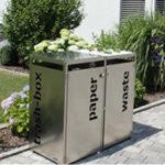 Mülltonnenbox Edelstahl