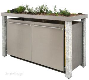 Mülltonnenbox bepflanzen